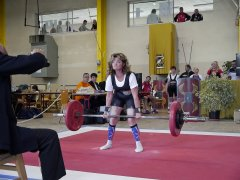 Pat increasing the World Deadlift record at the World Championships in France on 24th June 2012